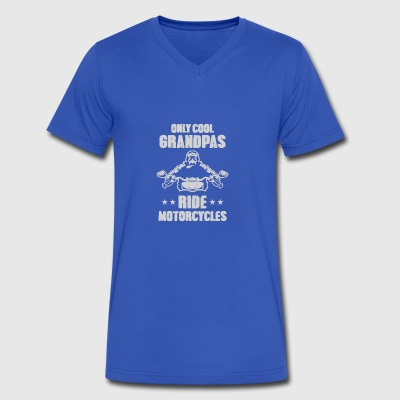 Only Cool Grandpas Ride Motorcycles - Men's V-Neck T-Shirt by Canvas