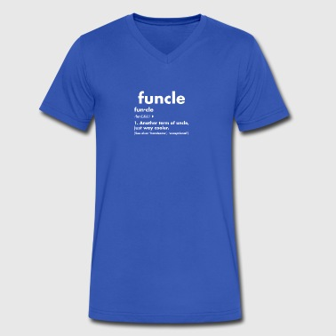 Funny Mens Uncle Funcle Definition - Men's V-Neck T-Shirt by Canvas