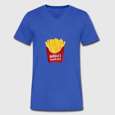 Addicted to French Fries - Men's V-Neck T-Shirt by Canvas