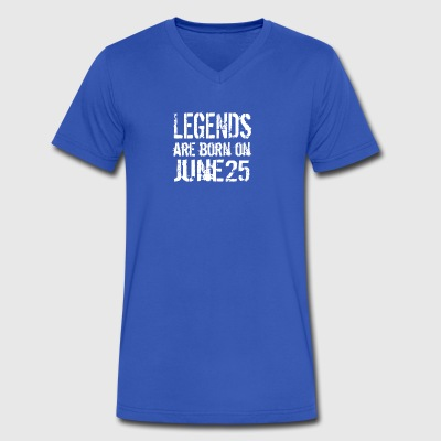 Legends are born on June 25 - Men's V-Neck T-Shirt by Canvas