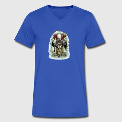 Floating Horor - Men's V-Neck T-Shirt by Canvas