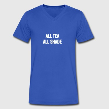 All Tea All Shade White - Men's V-Neck T-Shirt by Canvas