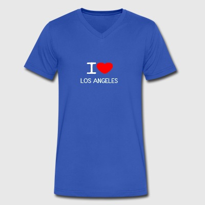 I LOVE LOS ANGELES - Men's V-Neck T-Shirt by Canvas