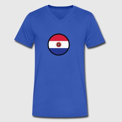 Marked By Paraguay - Men's V-Neck T-Shirt by Canvas