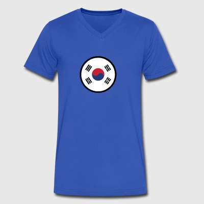 Marked By South Korea - Men's V-Neck T-Shirt by Canvas