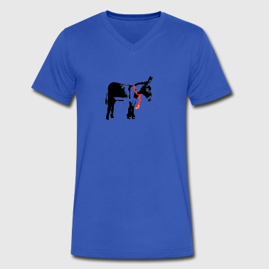 Kong Donkey - Men's V-Neck T-Shirt by Canvas