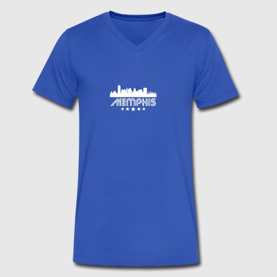 Retro Memphis Skyline - Men's V-Neck T-Shirt by Canvas