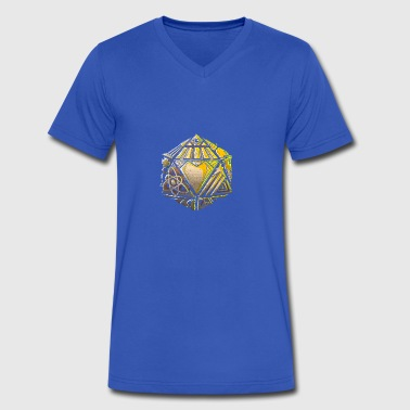 20 sided die of life pursuits - Men's V-Neck T-Shirt by Canvas