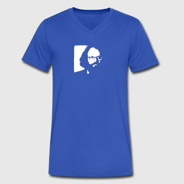 Allen Ginsberg Beat Generation poet poetry - Men's V-Neck T-Shirt by Canvas