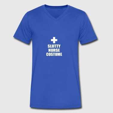 Slutty Nurse Costume - Men's V-Neck T-Shirt by Canvas