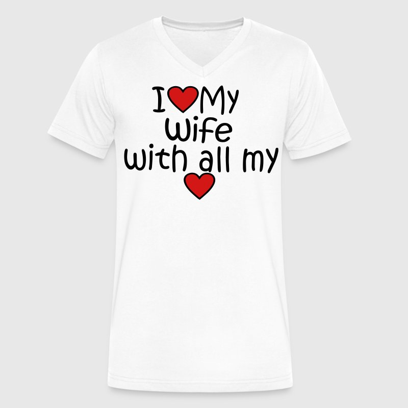 I LOVE MY NANA WITH ALL MY HEART - Men's V-Neck T-Shirt by Canvas
