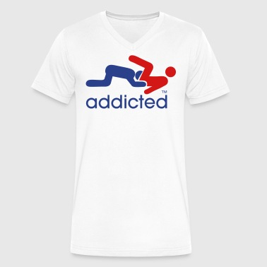 ADDICTED TO BOY PUSSY - Men's V-Neck T-Shirt by Canvas