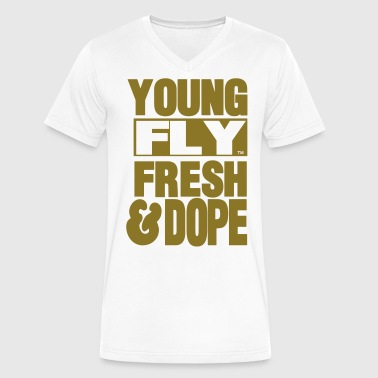 YOUNG FLY FRESH & DOPE - Men's V-Neck T-Shirt by Canvas