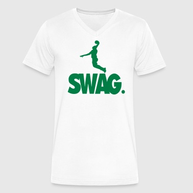 SWAG BASKETBALL - Men's V-Neck T-Shirt by Canvas