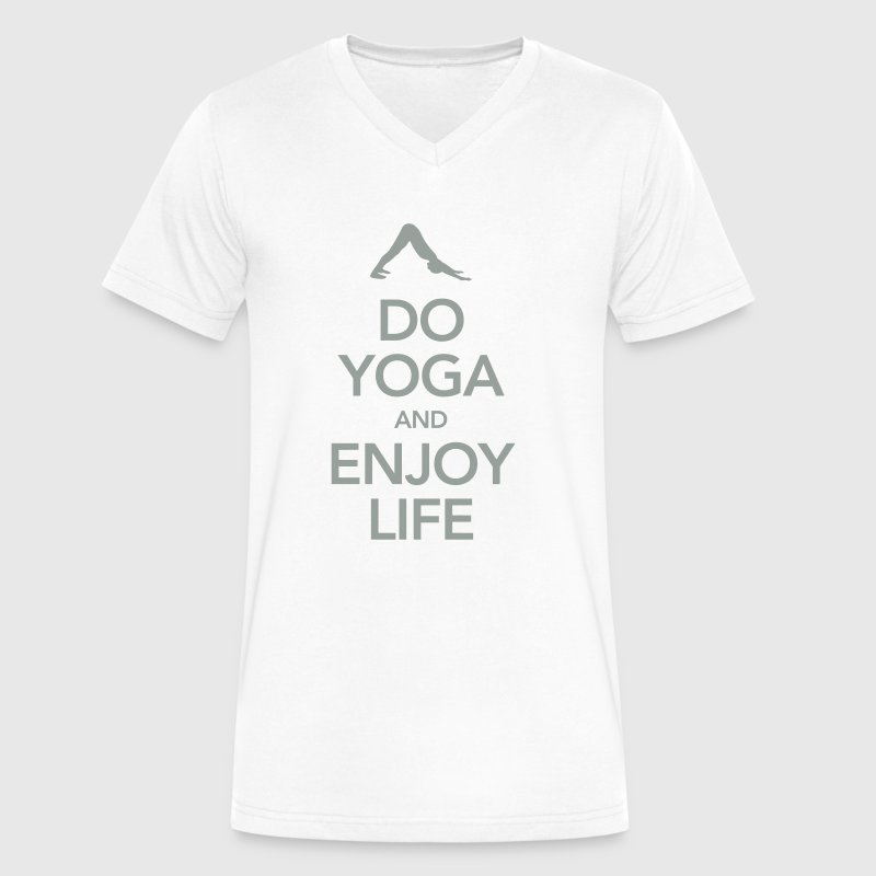 Do Yoga And Enjoy Life - Men's V-Neck T-Shirt by Canvas