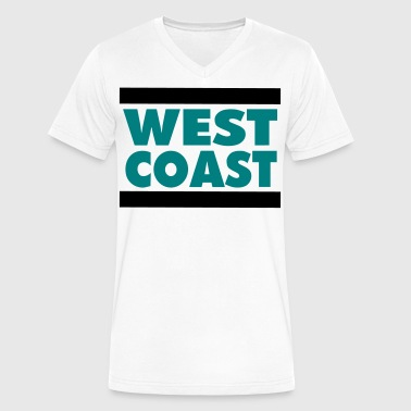 WEST COAST - Men's V-Neck T-Shirt by Canvas