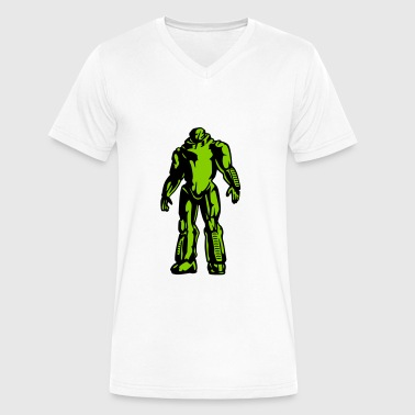 Robot geek - Men's V-Neck T-Shirt by Canvas