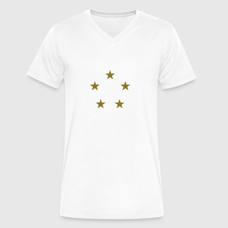 five stars circle - Men's V-Neck T-Shirt by Canvas