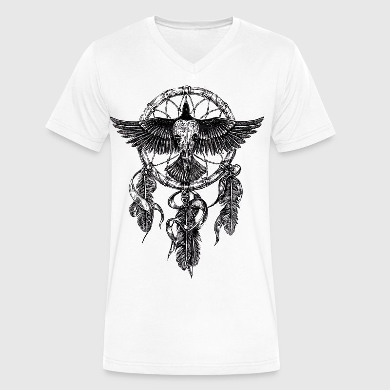 AD Skull Crow Dreamcatcher - Men's V-Neck T-Shirt by Canvas