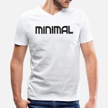 Minimal House minimal - Men's V-Neck T-Shirt by Canvas