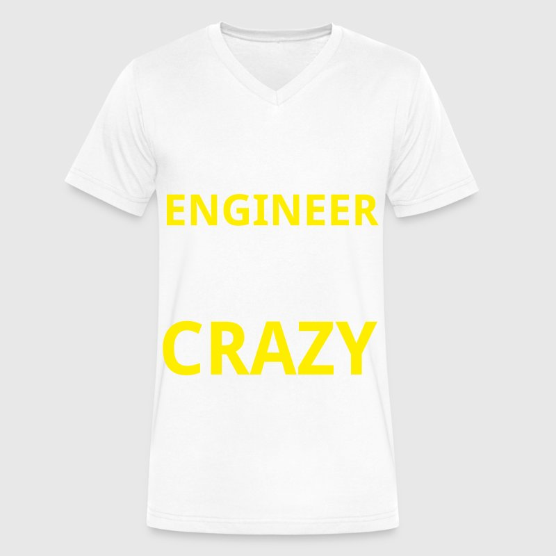 Crazy Engineer - Men's V-Neck T-Shirt by Canvas