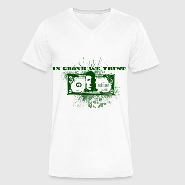 In Gronk We Trust  - Men's V-Neck T-Shirt by Canvas