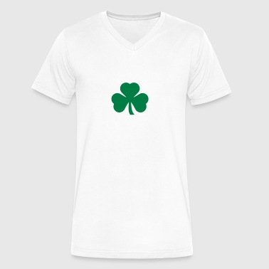 irish shamrock - Men's V-Neck T-Shirt by Canvas