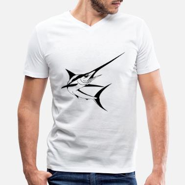 Marlin Swordfish marlin swordfish - Men's V-Neck T-Shirt by Canvas
