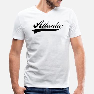 Atlanta Sports atlanta - Men's V-Neck T-Shirt by Canvas