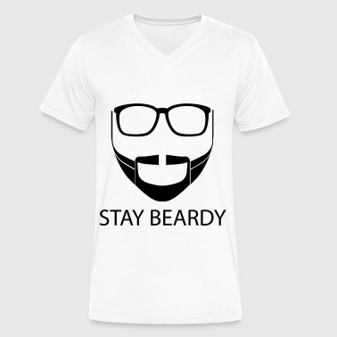 Beardiful STAY BEARDY - Men's V-Neck T-Shirt by Canvas
