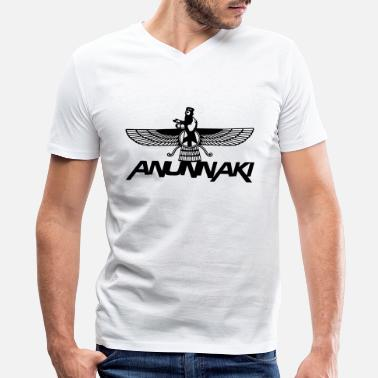 Anunnaki Anunnaki - Men's V-Neck T-Shirt by Canvas