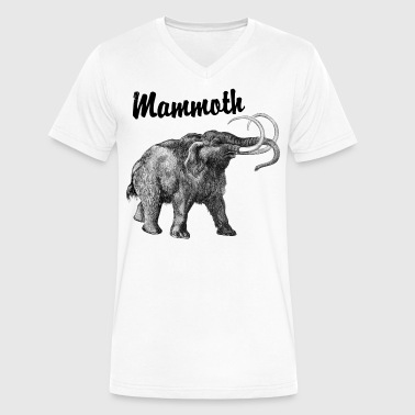 wooly mammoth - Men's V-Neck T-Shirt by Canvas