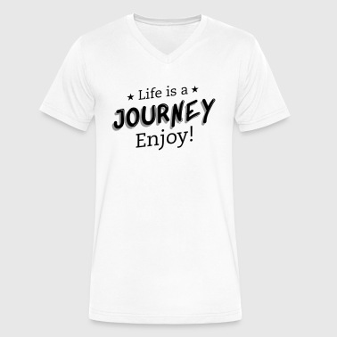 Life Is a Adventure - Men's V-Neck T-Shirt by Canvas