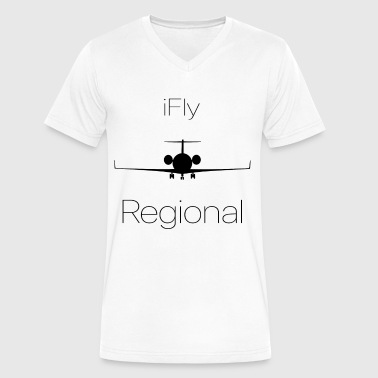 Ifly iFly Regional - Men's V-Neck T-Shirt by Canvas