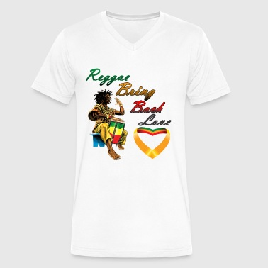 Rastafari Reggae Bring Back Love - Men's V-Neck T-Shirt by Canvas