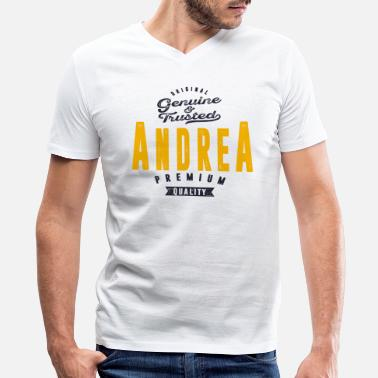 Andrea ANDREA - Men's V-Neck T-Shirt by Canvas