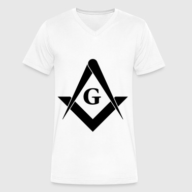 masonic symbol - Men's V-Neck T-Shirt by Canvas