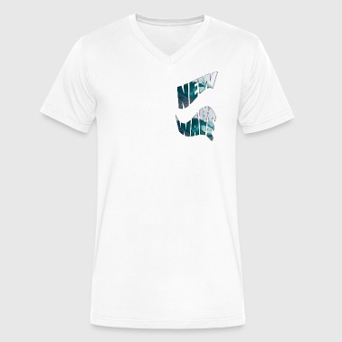 new wave - Men's V-Neck T-Shirt by Canvas