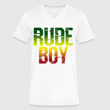 Flag Dub Rude Boy - Reggae Music Jamaica Rasta Gift - Men's V-Neck T-Shirt by Canvas