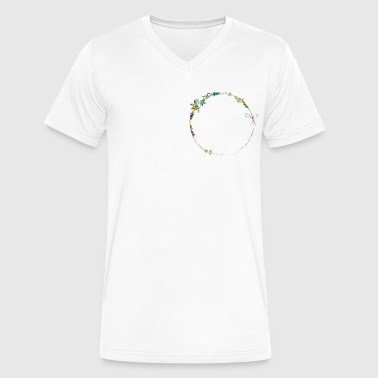 a filigree frame - Men's V-Neck T-Shirt by Canvas