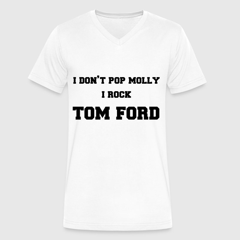 Tom Ford  - Men's V-Neck T-Shirt by Canvas