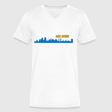 San Diego Skyline - Men's V-Neck T-Shirt by Canvas