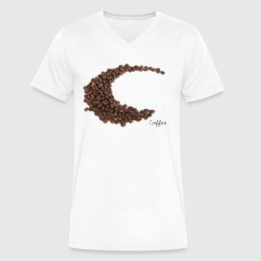 Coffee Beans - Men's V-Neck T-Shirt by Canvas