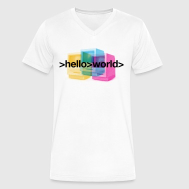 Ferry Corsten 'Hello World' mug - Men's V-Neck T-Shirt by Canvas