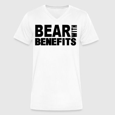 Loaded For Bear BEAR WITH BENEFITS - Men's V-Neck T-Shirt by Canvas