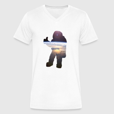 Spaceman Spaceman - Men's V-Neck T-Shirt by Canvas