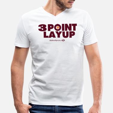 3 Point 3 POINT LAYUP - Men's V-Neck T-Shirt by Canvas