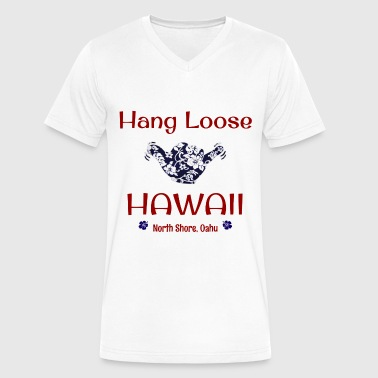 Hang Loose, Oahu, Hawaii - Men's V-Neck T-Shirt by Canvas