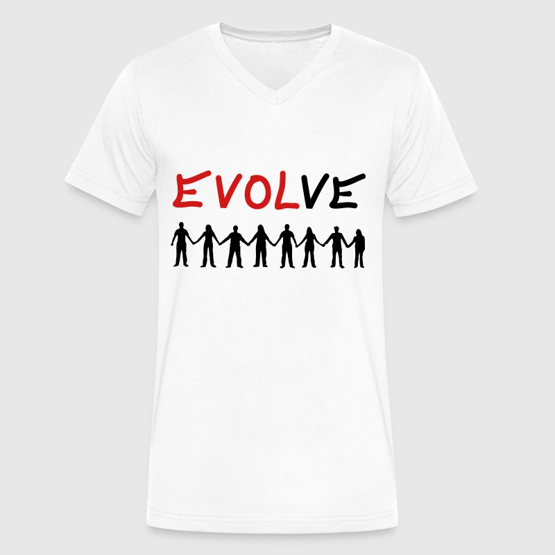 Evolve - Love - Men's V-Neck T-Shirt by Canvas
