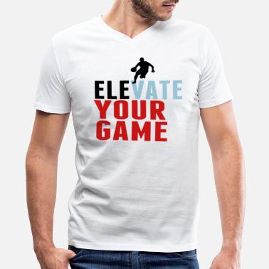 Breaking Records Taking Names ELEVATE YOUR GAME - Men's V-Neck T-Shirt by Canvas